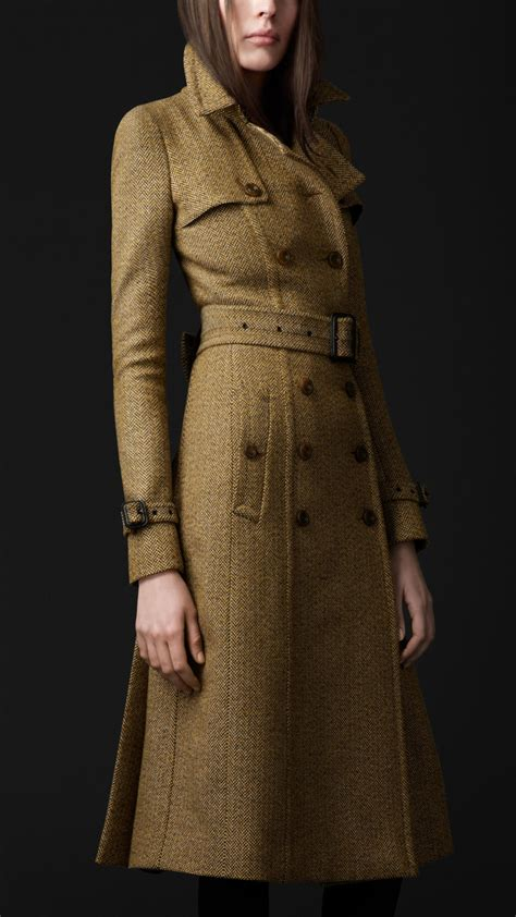 Burberry Prorsum Tailored Wool Trench Coat in Natural - Lyst