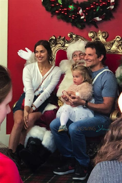 Bradley Cooper and Irina Shayk pose with daughter Lea with