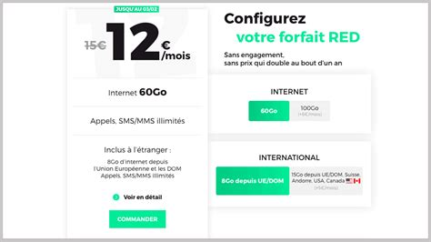 RED by SFR, B&YOU, Free mobile : forfaits sans engagement