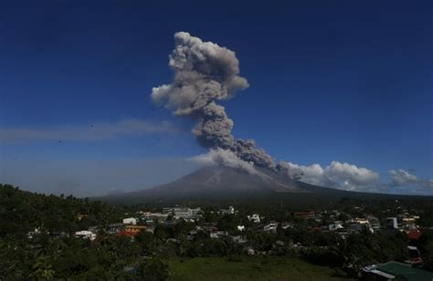 Philippines' 'most active volcano' Mount Mayon erupts