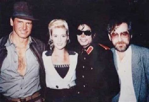Michael Jackson visiting Harrison Ford, Alison Doody and