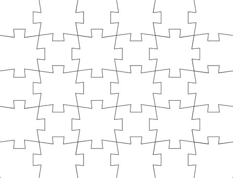 Jigsaw Puzzle Template Free Download