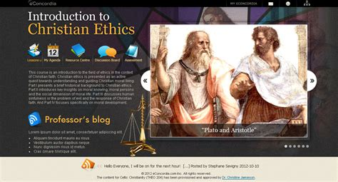 eConcordia - THEO 204 - Introduction to Christian Ethics
