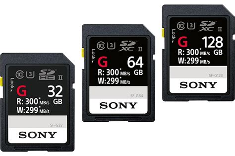 Sony Announces SF-G UHS-II SD Cards: Up to Nearly 300 MB/s