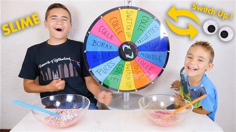 MYSTERY WHEEL OF SLIME SWITCH UP CHALLENGE !!! Faire du