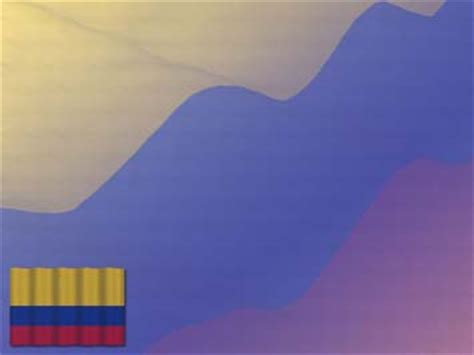 Colombia Flag 01 - PowerPoint Templates