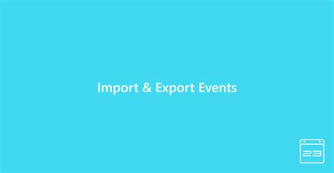 Import And Export Events – Modern Events Calendar