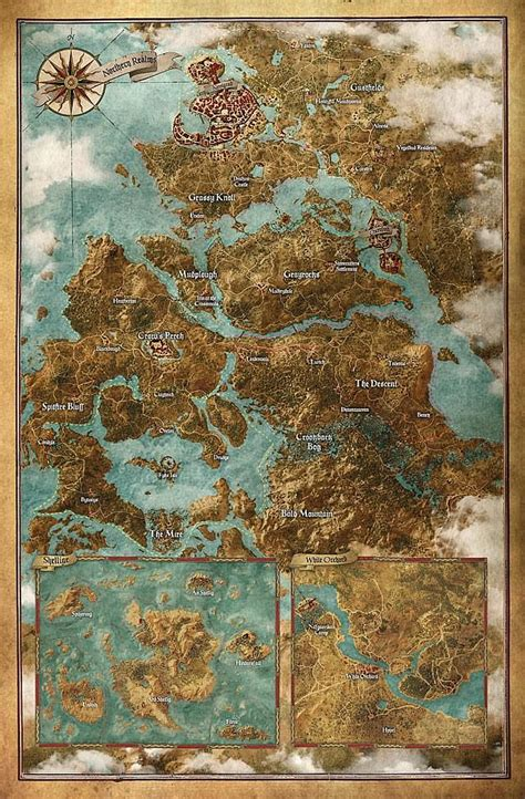 The world map for The Witcher 3: Wild Hunt is a rather