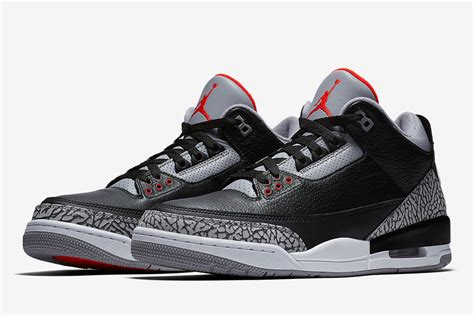 """Official Images of the Air Jordan 3 """"Black/Cement"""" Have"""