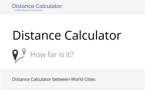 Distance Calculator: Free Tool with Map
