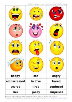 Image result for feelings emotions flashcards pdf | Ecole