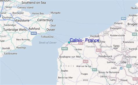 Calais, France Tide Station Location Guide
