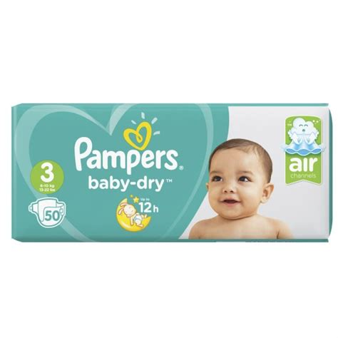 Couches taille 3 : 5-9 kg Baby Dry PAMPERS : le paquet de