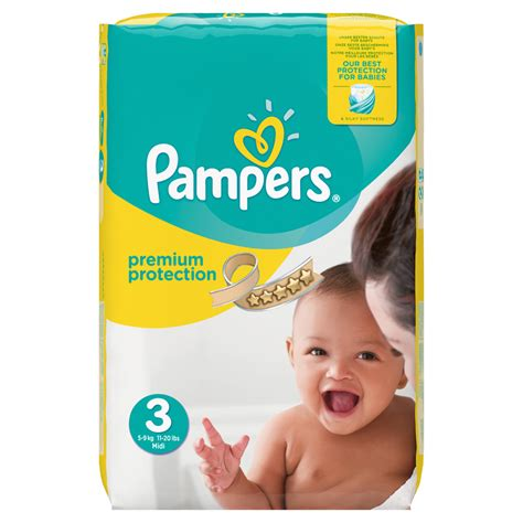 Couches new baby taille 3 (5-9 kg) 204 couches de Pampers