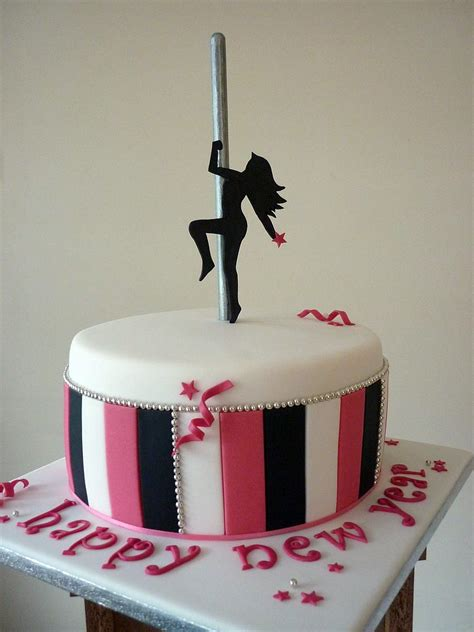 Pole dancing cake   I am a pole dancing instructor and