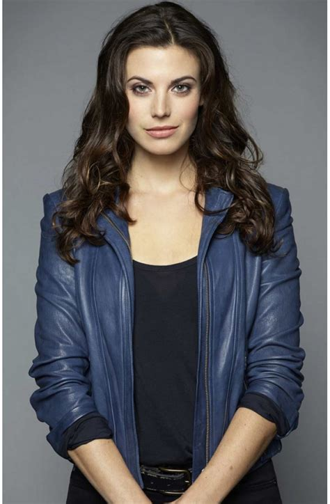 Meghan Ory Intelligence Riley Neal Leather Jacket - Movies