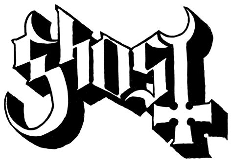 Ghost logo (With images) | Band stickers, Ghost logo, Band