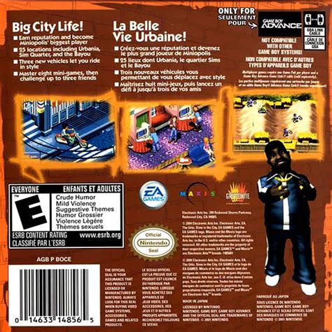 The Urbz: Sims in the City (USA) GBA ROM - NiceROM